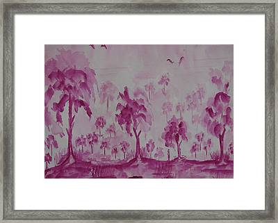 Nature In Illusion Framed Print by Rima