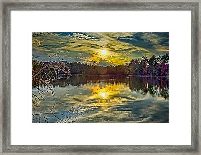 Nature Landscapes Around Lake Wylie South Carolina Framed Print by Alex Grichenko