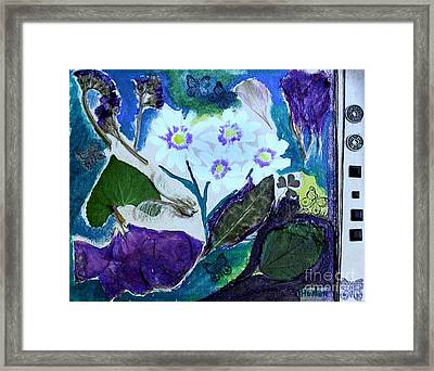 Nature Ll  Collage Framed Print by Marsha Heiken