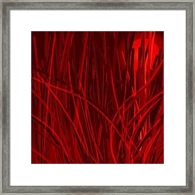 Nature On Fire At Night Framed Print by Denny Casto
