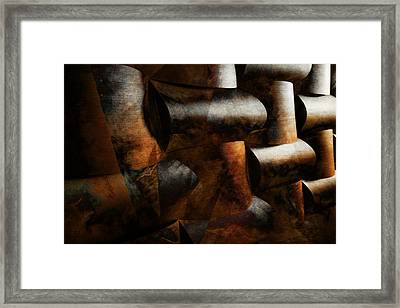Framed Print featuring the digital art Nature Re-patterned by Jean Moore