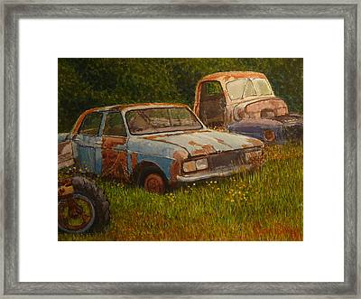 Nature Recycles Framed Print