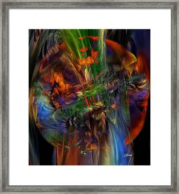 Nature Spilling Over Framed Print by Julie Grace