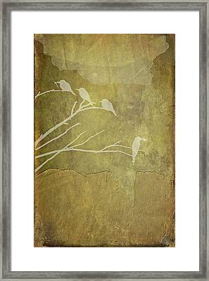 Nature Study In Gold  Framed Print