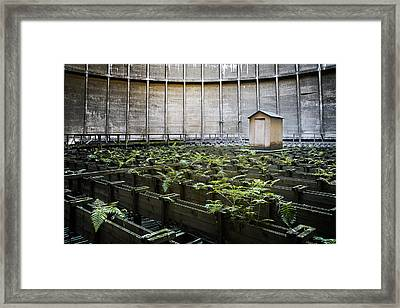 Framed Print featuring the photograph Nature Takes Back - Inside Cooling Tower by Dirk Ercken