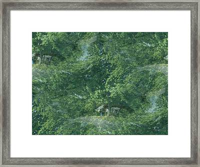 Framed Print featuring the photograph Nature Trees Fractal by Skyler Tipton