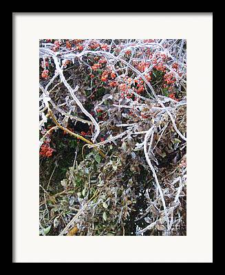 New England Winter Mixed Media Framed Prints