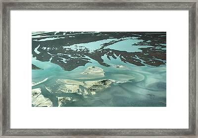 Natures Art On Barnegat Bay Framed Print