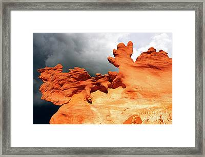 Framed Print featuring the photograph Nature's Artistry Nevada 2 by Bob Christopher