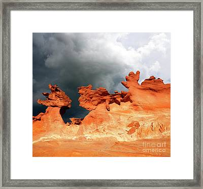 Framed Print featuring the photograph Nature's Artistry Nevada by Bob Christopher