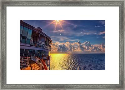 Natures Beauty At Sea Framed Print