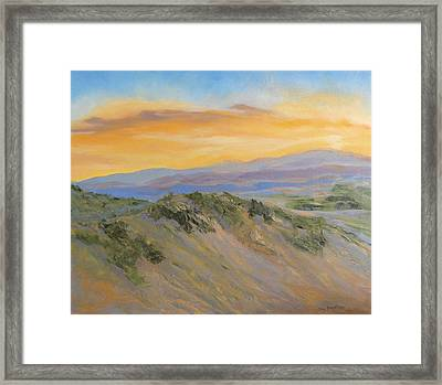 Nature's Blazing Sky Framed Print