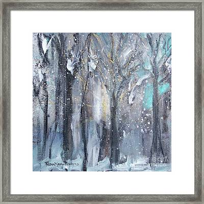 Framed Print featuring the painting Nature's Cathedral by Robin Maria Pedrero