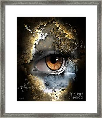 Natures Eye Framed Print