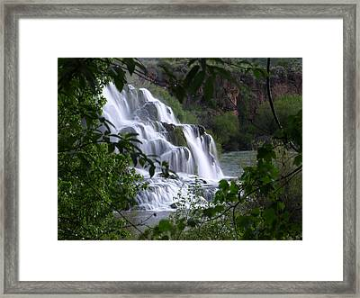 Nature's Framed Waterfall Framed Print