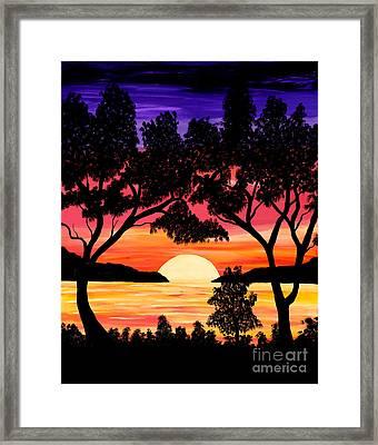 Nature's Gift - Ocean Sunset Framed Print