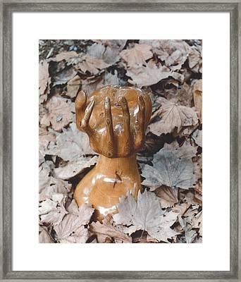 Natures Grip Framed Print by Lionel Larkin