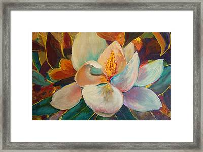 Framed Print featuring the painting Nature's Jewelry by AnnE Dentler