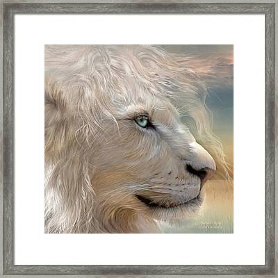 Nature's King Portrait Framed Print by Carol Cavalaris
