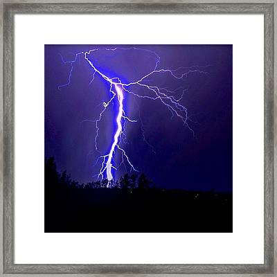 Nature's Light Show Framed Print