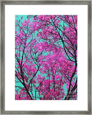 Natures Magic - Pink And Blue Framed Print