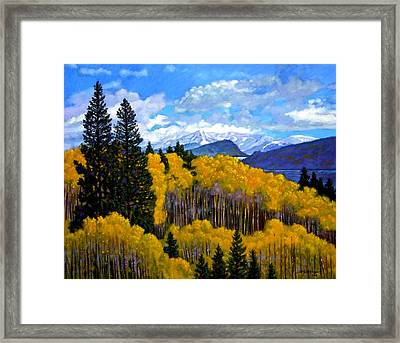 Natures Patterns - Rocky Mountains Framed Print