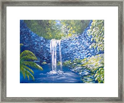 Framed Print featuring the painting Nature's Pool by Saundra Johnson