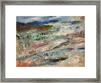 Natures Rainbow Forest Framed Print by Edward Wolverton