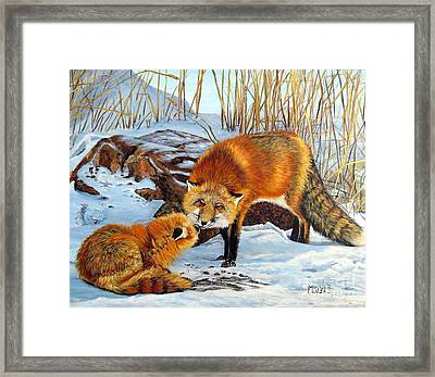 Natures Submission Framed Print by Marilyn McNish