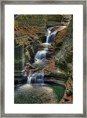 Nature's Tears Framed Print by Evelina Kremsdorf