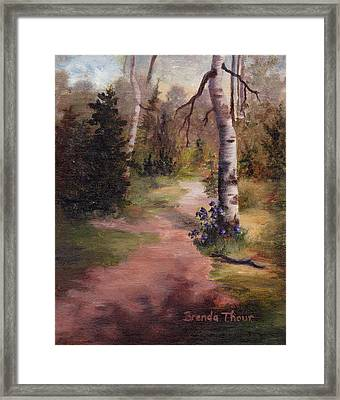 Framed Print featuring the painting Natures' Trail by Brenda Thour