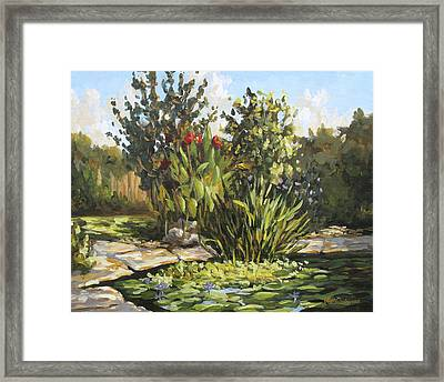 Natures Water Garden Framed Print