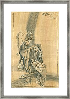 Naturmort With Clothes On Chair 1 Framed Print