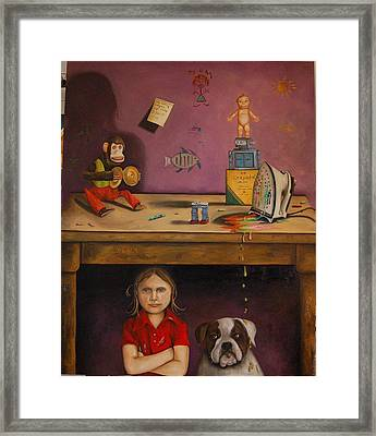 Naughty Child Framed Print by Leah Saulnier The Painting Maniac
