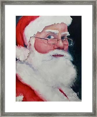 Naughty Or Nice ? Santa 2016 Framed Print