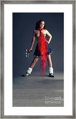 Naughty Schoolgirl Framed Print by Nichola Denny