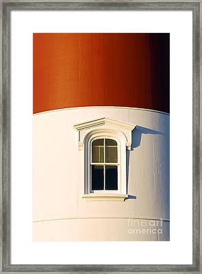 Nauset Light Detail Framed Print by John Greim