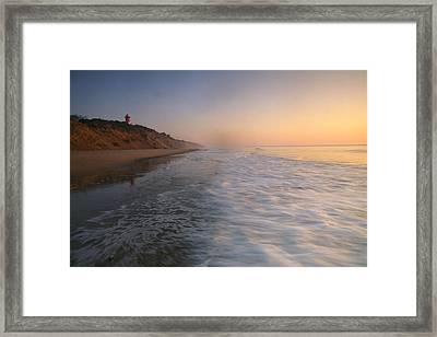 Nauset Light On The Shoreline Of Nauset Framed Print by Michael Melford