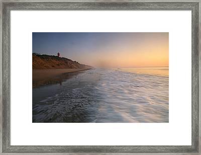Nauset Light On The Shoreline Of Nauset Framed Print by Michael Melford