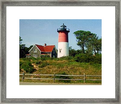 Framed Print featuring the photograph Nauset Lighthouse by Frederic Kohli