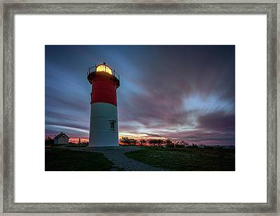 Nauset Lighthouse Framed Print by Rick Berk
