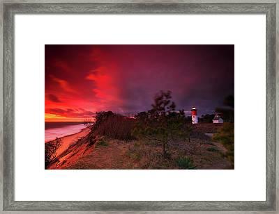 Nauset Lighthouse Sunrise Framed Print by Dapixara Art