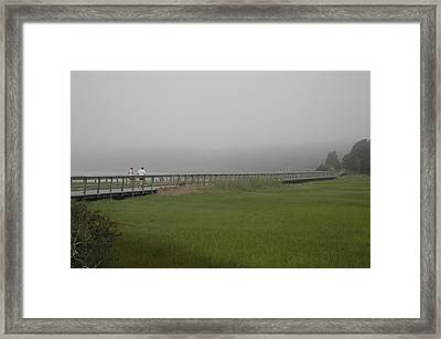 Nauset Marsh Runners Framed Print by William A Lopez
