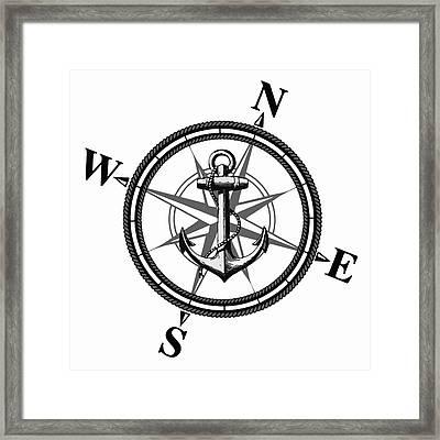 Nautica Bw Framed Print