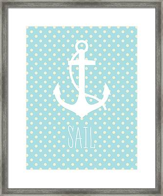 Nautical Anchor Art Print Framed Print by Taylan Apukovska