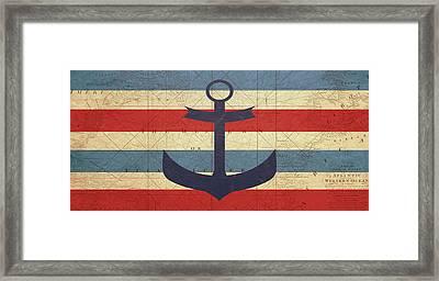 Nautical Anchor  Framed Print by Erin Cadigan
