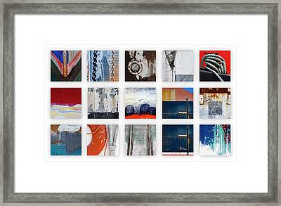 Nautical Bits Panel Number 1 Framed Print by Carol Leigh