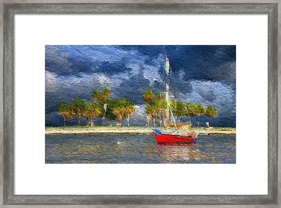 Nautical Breeze Framed Print by Anthony Fishburne