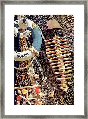 Nautical Handicraft Framed Print