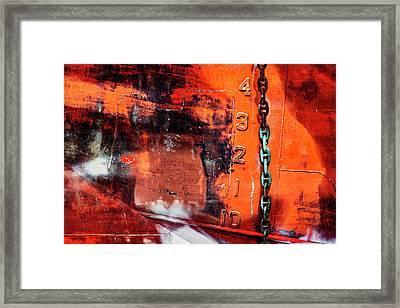 Nautical Industrial Art Again Framed Print